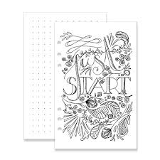 a5 fancy pants coloring insert pack startplanner