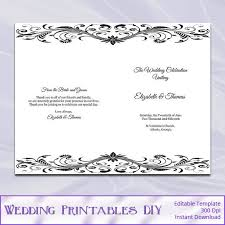 wedding booklet templates wedding booklet templates