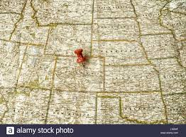 Colorado On The Map by Red Pin On Map Of The Midwest In Usa Pointing At Denver Colorado