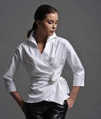 white wrap blouse abigail white shirt by the shirt company notonthehighstreet com