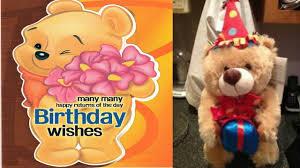 teddy bear wishes happy birthday to you teddy bear birthday song