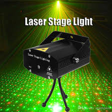 portable mini led laser projector dj disco light and green