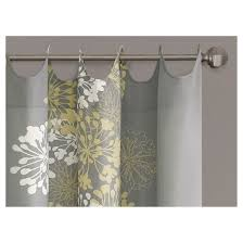 ally 100 cotton printed curtain panel yellow gray 50