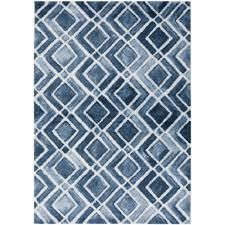 decor home interior design with navy blue area rug for decorate