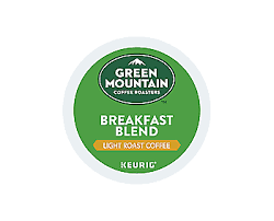 Blend K Cups Green Mountain Coffee Roasters Breakfast Blend Coffee K Cup