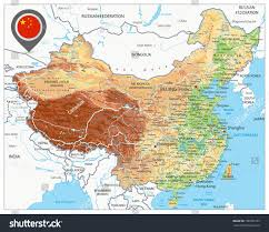 Shenzhen China Map China Physical Map High Detailed China Stock Vector 706783729