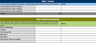 4 free simple personal monthly budget templates