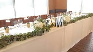 wedding flowers calgary table garland dahlia floral design