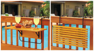 Outdoor Furniture Balcony by Space Saving Table For Small Balconies Home Designing