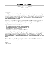 receptionist cover letter receptionist cover letter exle executive relations