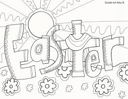 religious easter coloring pages doodle art alley