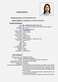 Resume Sample Nigeria by Latest Nigeria Cv Format Resume Template Cover Letter