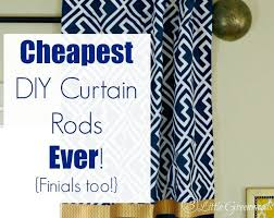 Easy Curtain Rods Cheapest Diy Curtain Rods Finials Hometalk