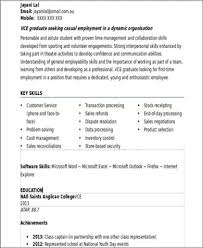 Example Of Resume With No Work Experience by Sample Resume With No Work Experience 7 Examples In Word Pdf