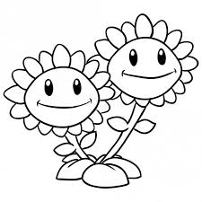 plants zombies coloring pages sunflower coloring