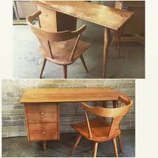 before after paul mccobb planer group desk and chair retro