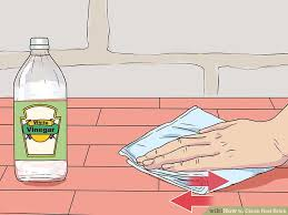 How To Clean Fireplace Bricks With Vinegar by 3 Ways To Clean Red Brick Wikihow
