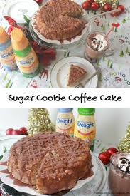 sugar cookie coffee cake with caramel mocha glaze recipe