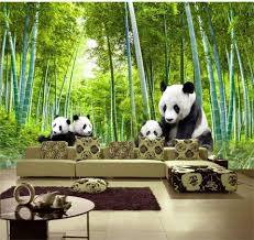 bamboo wall mural promotion shop for promotional bamboo wall mural 3d wallpaper custom photo non woven picture panda bamboo forest 3d wall murals wallpaper for wall room decoration painting