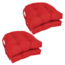 Blazing Needles Patio Cushions by Amazon Com Blazing Needles Solid Twill U Shaped Tufted Chair