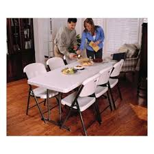 6 ft adjustable height table lifetime 6 ft commercial adjustable height folding table almond with