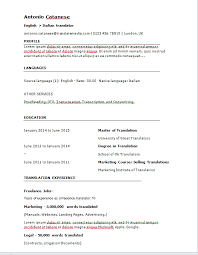 Online Resume Tool by Online Tool To Easily Create A Translator Cv