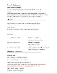 Translate Resume Online Tool To Easily Create A Translator Cv