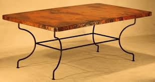 hammered copper dining table hammered copper dining table