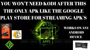 apk only you won t need kodi after this the only apk like the play