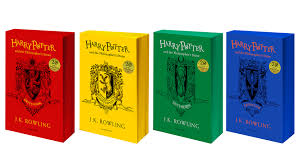 Harry Potter House Meme - there are now harry potter books in hogwarts house colors because