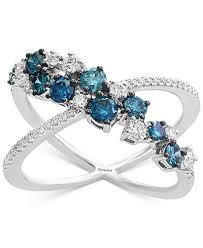 diamond x ring diamond x ring 1 ct t w in 14k white gold rings jewelry