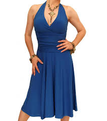 halter neck blue halter neck dress