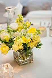 memorable wedding elegant yellow spring wedding centerpieces