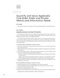 step 6 quantify and value applicable first order public and