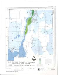 New Mexico State Map by Roswell Basin Aquifer