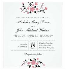 bridal invitation templates wedding invitation template 64 free printable word pdf psd