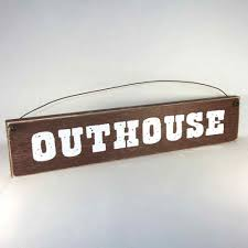 outhouse primitive bathroom signs country home decor outer