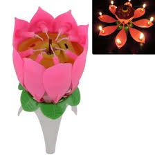 musical birthday candle non smoky safty sparkling flower candle 8 wicks musical lotus