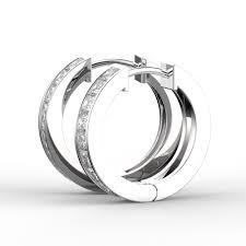 white gold diamond hoop earrings 18k white gold channel diamond hoop earrings earrings