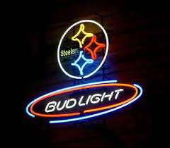 bud light nfl neon sign new bud light pittsburgh steelers nfl neon sign 24 x20 ship from