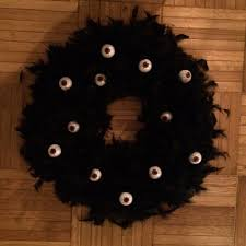 Halloween Eyeball Wreath by Flipping Houses Home Renovation In Silicon Valley