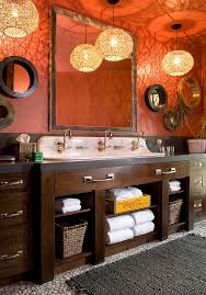 orange bathroom ideas 25 bathrooms that beat the winter blues with a splash of color