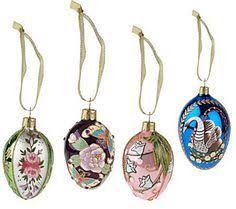 joan rivers set of 12 mini russian inspired egg ornaments joan