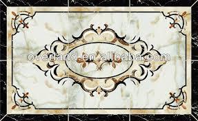 waterjet marble tiles design floor pattern buy waterjet marble