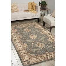 nourison hand tufted caspian blue wool rug 5 u0027 x 8 u0027 free
