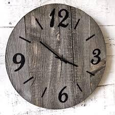16 inch rustic barn wood clock wooden clock large wall clock
