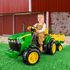 perego cars peg perego john deere ground tractor u0026 trailer battery powered