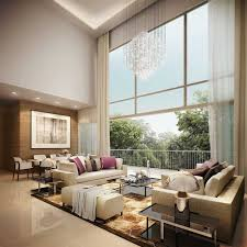 Decorating Ideas For Living Rooms With High Ceilings Enchanting Living Room With High Ceilings Decorating Ideas Trends