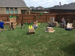 build a nerf war battlefield outdoor engineering challenge