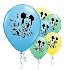 mickey mouse 1st birthday baby mickey mouse 1st birthday balloons jeckaroonie balloons